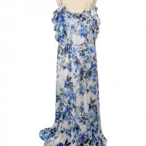 שמלת פרחים תכלת לבן maxi מבית Ralph Lauren 2