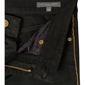 מכנסי ג׳ינס שחורים עם פס זהב בצד - Alexander McQueen 3