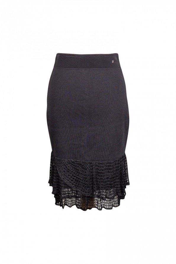 חצאית סריג שחורה - Carolina Herrera 1