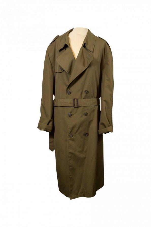 מעיל טרנץ ירוק זית של Christian Dior 1