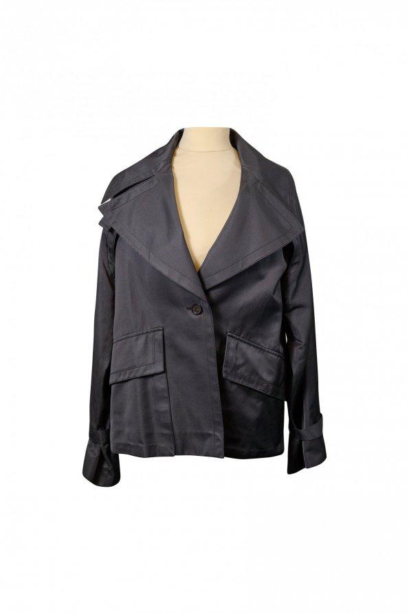 מעיל טרנץ׳ אפור קצר - GUCCI 1
