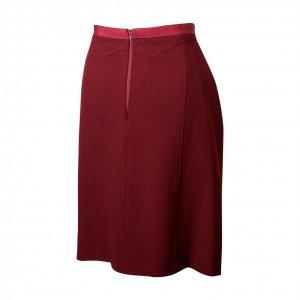 חצאית וינטג' בורדו עם כיסים - Chanel 2