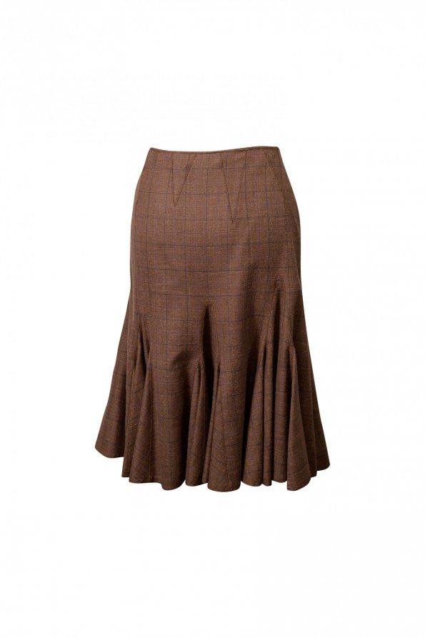 חצאית צמר חומה 1