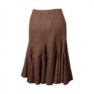 חצאית צמר חומה 2