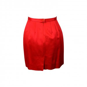 חצאית מיני סאטן אדומה - Kenzo 2