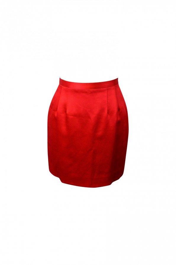 חצאית מיני סאטן אדומה - Kenzo 1
