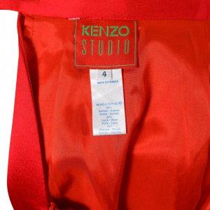 חצאית מיני סאטן אדומה - Kenzo 3