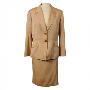חצאית משי מידי זהב עם שסע  - Thierry Mugler 2