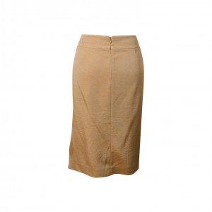 חצאית משי מידי זהב עם שסע  - Thierry Mugler 3