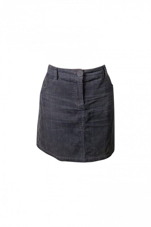 חצאית קורדרוי אפור - NAF-NAF 1
