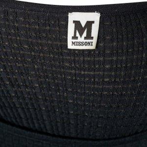 שמלת סריג שחורה עם קשירה - Missoni 3