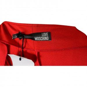 שמלה צמודה אדומה שרוולים כחול שחור - Moschino 3