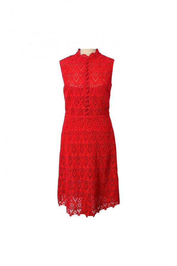 שמלת תחרה אדומה - Valentino 1