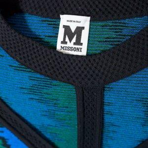 גופיה סרוגה שחורה עם צבעי ורוד ירוק מ Missoni 3