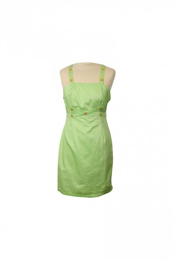 שמלה ירוק מנטה עם כפתורי זהב - קרדשבק קשמד 1