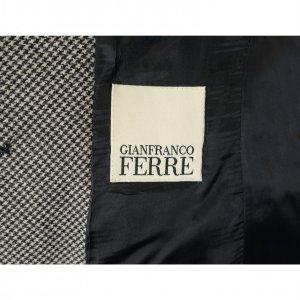 בלייזר מחויט משבצות שחור לבן עם פרח - GIANFRANCO FERRE 3