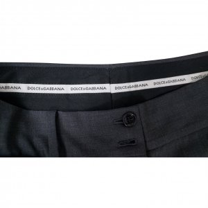 מכנסיים אפורים רחבי רגליים מבית DOLCE & GABBANA 2