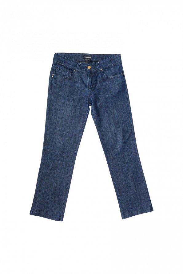 מכנסי ג׳ינס כחולים כהים בגזרה ישרה - Armani 1