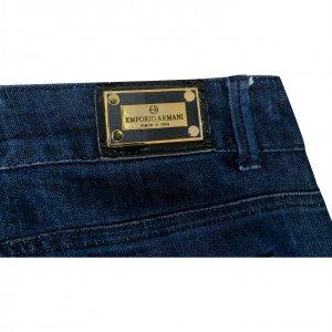 מכנסי ג׳ינס כחולים כהים בגזרה ישרה - Armani 2