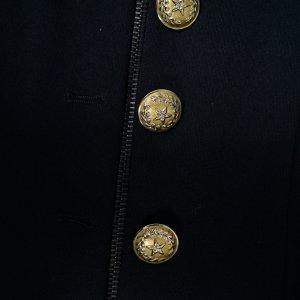 שמלה שחורה ריצרץ כפתורי זהב - Diesel 2