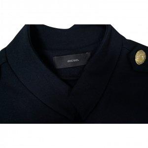 שמלה שחורה ריצרץ כפתורי זהב - Diesel 4