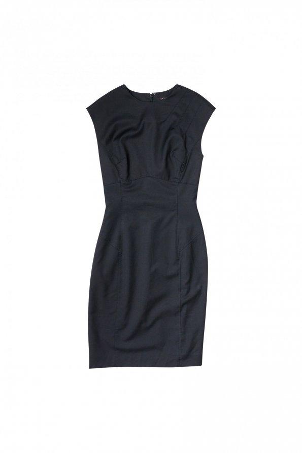 שמלה שחורה מחויטת - Ted Baker 1