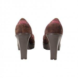 נעלי עקב סגול בורדו - Yves Saint Laurent 5