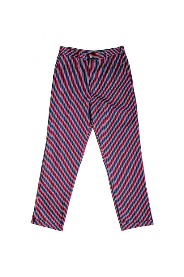 מכנס פסים כחול בורדו וינטג' 1