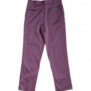 מכנס פסים כחול בורדו וינטג' 2