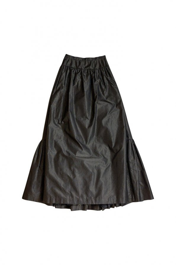 חצאית מקסי שחורה נקודות זהב - Valentino 1