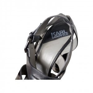 סנדלי עקב שחורות - KARL LAGERFELD 3