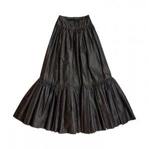 חצאית מקסי שחורה נקודות זהב - Valentino 2