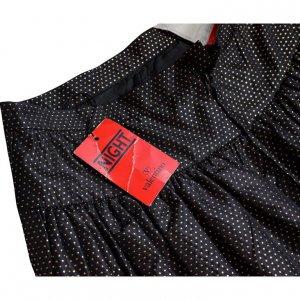 חצאית מקסי שחורה נקודות זהב - Valentino 6