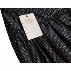 חצאית מקסי שחורה נקודות זהב - Valentino 4