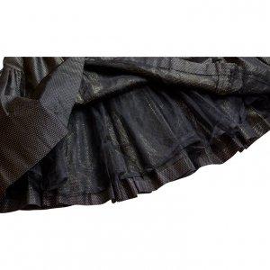 חצאית מקסי שחורה נקודות זהב - Valentino 3