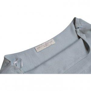 חצאית משי שכבות אפור תכלת - STELLA McARTNEY 3