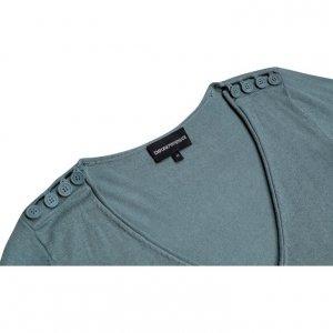 חולצה סרוגה בצבע ירוק מנטה - EMPORIO ARMANI 3