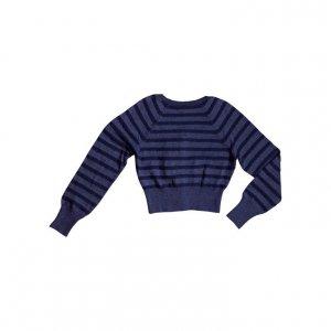 קרדיגן כפתור קצר מכחול מנצנץ - Armani 2