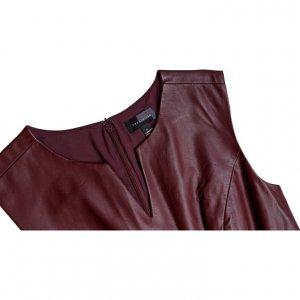 שמלת עור בורדו - The Limited 3