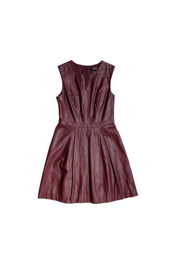 שמלת עור בורדו - The Limited 1