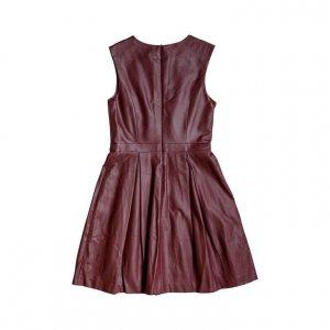 שמלת עור בורדו - The Limited 2