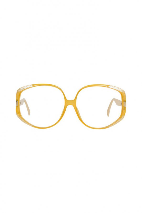 משקפיים של dior וינטג׳ שמנת ולבן - Dior 1