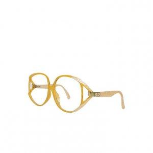 משקפיים של dior וינטג׳ שמנת ולבן - Dior 2