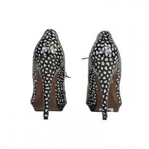 נעלי עקב שחור לבן עור - Etro 3