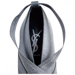 נעלי עקב אפורות סגורות - Yves Saint Laurent 4