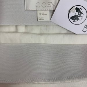 חצאית ארוכה בד ג׳ינס לבנה - COS 3