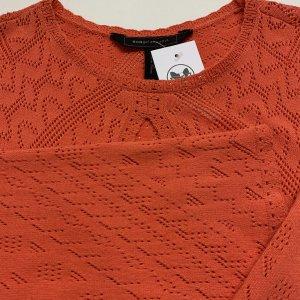 שמלת סריג כתום אדום מקסי - BCBG 6