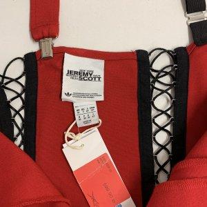 שמלת שלייקעס ומחוך בצבע אדום עם פסים שחור לבן בצד - ADIDAS 6