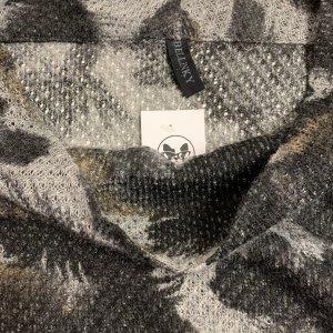 סריג אוברסייז שרוול קצר, שחור עם אפור - BELLINKY 6