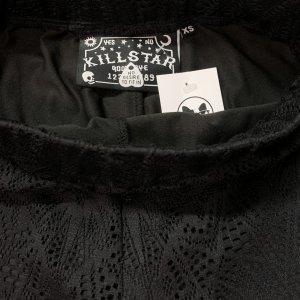מכנסיי תחרה שחורות עם תחתון קצר מתחת - KILLSTAR 4